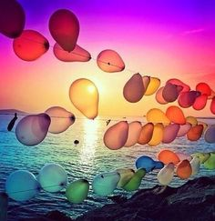 Like a beautiful rainbow #balloons