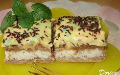 Recept Kokosové řezy se žloutkovým krémem Nutella, Quiche, Tiramisu, French Toast, Cheesecake, Breakfast, Sweet, Ethnic Recipes, Desserts