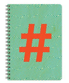 Love this Op Art Hashtag Real Wood Journal on #zulily! #zulilyfinds
