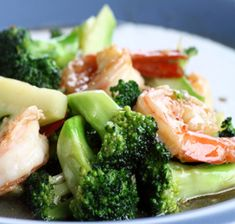 Recipes/Dinner/Shrimp-and-Broccoli-with-Peanut-Sauce   Zone Diet   Home of Anti-Inflammatory Nutrition