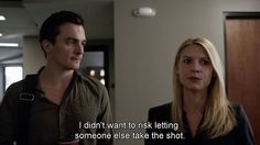 Quinn's type of romance 😍😍 Quinn and Carrie on Homeland, gotta love this so much! Best Series, Tv Series, Homeland Series, Carrie Mathison, Rupert Friend, Claire Danes, My Man, Movies And Tv Shows, Favorite Tv Shows