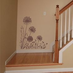Wall Decal Larger Dandelions  Vinyl Wall by ChuckEByrdWallDecals, $38.50