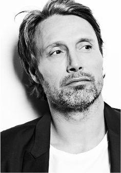 Mads Mikkelsen in black & white