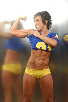 She's a Lean and has  Beautiful Muscular Definition.....RV B-)