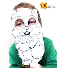 Squirrel Printable Mask Octopus Coloring Page, Zebra Coloring Pages, Snake Coloring Pages, Printable Masks, Printables, Squirrel Mask, Nap, Paper Mask, All Paper