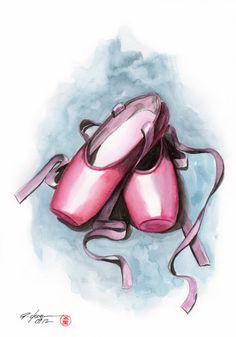 ballet sneaker Art Print by rchaem Ballet Drawings, Dancing Drawings, Art Drawings, Ballet Shoes Drawing, Ballerina Art, Ballet Art, Ballet Dancers, Ballerinas, Ballet Tattoo