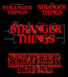 The logo draws references from various Stephen King book covers, as well as movie posters from the Stranger Things Logo, Stranger And Stranger, Eleven Stranger Things, Wedding Invitation Background, Emoji Design, Stephen King Books, Movies And Series, Tv Series, Journal Entries