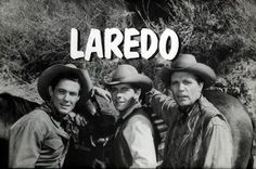 An interstitial slide from the TV show Laredo - anyone recall this TV western? It was filled with lots of character actors in guest spots. It ran from' 65 to Neville Brand, Peter Brown, William Smith, Philip Carey were all 'stars' on this TV show. Neville Brand, Old Western Movies, Best Hero, Tv Westerns, Old Shows, James Drury, Thing 1, Vintage Tv, Old Tv