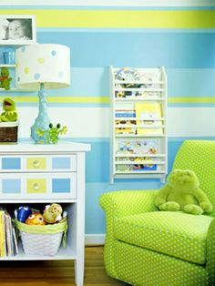 .Thinking of doing the walls like this for my nephew's nursery
