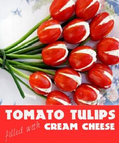 Impress your guests with these gorgeous tomato tulips that are so easy to make!