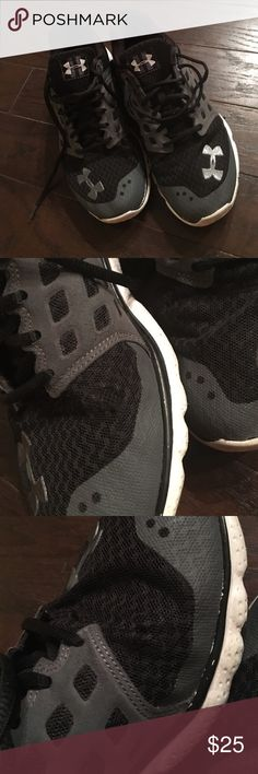 Under Armour Women's Sneakers Used condition. There is wearnin the fabric as shown on the inside of each shoe from walking. Soles are in great shape. Under Armour Shoes Sneakers