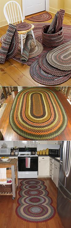 another day another house Crochet Baby Bonnet, Crochet Mat, Crochet Home, Rope Rug, Rag Rug Tutorial, Knit Rug, Braided Rugs, Crochet Flower Patterns, Diy Home Crafts