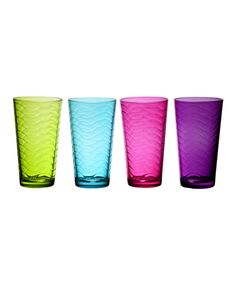 Home Essentials and Beyond Surf Rainbow Glass - Set of Four | zulily