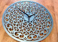 """Купить Настенные часы """"Абстракция"""" - голубой, часы, часы настенные, часы интерьерные"""
