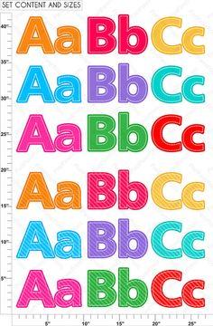 Alphabet Clipart Part 1 ABC clip art School clip art