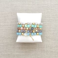 The Chloe Charm Bracelets by LovesAffect on Etsy