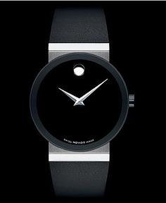 Movado Watch, Women's Swiss Black Rubber Strap 42mm 0606269 - Women's Watches - Jewelry & Watches - Macy's