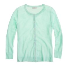 FEATHERWEIGHT CASHMERE CARDIGAN in Aqua by J.Crew