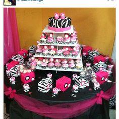 baby shower cakes for a girl zebra print | Baby girl zebra baby shower decoration | Flickr - Photo Sharing!
