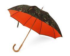 London Undercover British Woodland Camouflage & Orange Umbrella