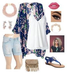 """""""The spring thing"""" by eleganth ❤ liked on Polyvore featuring Be Girl Clothing, Dondup, Accessorize, Lime Crime, Kenneth Jay Lane, Bling Jewelry, Madden Girl and Carole"""