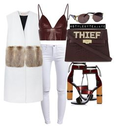 """Untitled #1916"" by stylebyteajaye ❤ liked on Polyvore featuring ONLY, Marni, Mawi, Versace and T By Alexander Wang"