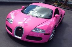 Image result for pink paint accents on white jaguar, pink rims