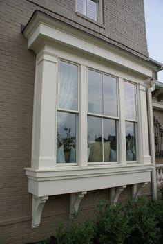 bay window exterior large windows bay windows boxed out windows window . Bay Window Exterior, Exterior Trim, Exterior Design, Wall Exterior, House Windows, Windows And Doors, Bay Windows, Large Windows, Living Room Remodel