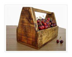 Wooden Tool Box. Antique French Garden Trug. by LeBonheurDuJour, $40.00