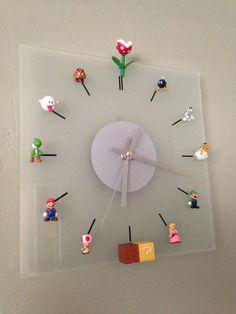 DIY Mario Bros Clock You are in the right place about sticky Glue Here we offer you the most beautiful pictures about the Glue icon you are looking for. When you examine the DIY Mario Bros Clock part Video Game Decor, Video Game Rooms, Video Games, Nerd Decor, Game Room Decor, Super Mario Room, Boy Room, Kids Room, Deco Gamer