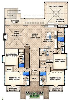 Smashing Coastal Retreat - 66323WE   Beach, Florida, Vacation, 2nd Floor Master Suite, Butler Walk-in Pantry, CAD Available, Den-Office-Library-Study, PDF   Architectural Designs