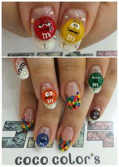 M&M'Sチョコレート : Character nail art