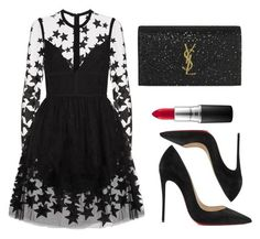 """""""Untitled #349"""" by fweakydarcy on Polyvore featuring Elie Saab, Christian Louboutin, MAC Cosmetics and Yves Saint Laurent"""