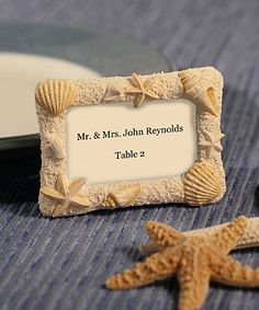 Beach Wedding Shell Frame Place Card Holders - - Affordable Elegance Bridal -