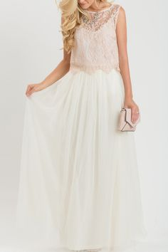 Anabelle Ivory Tulle Maxi Skirt