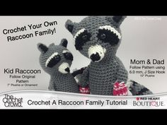 Crochet Your Own Raccoon Family for Christmas