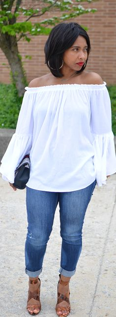Spring Outfit Idea, Spring 2015, White top
