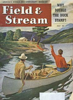 July, 1947 Field & Stream Magazine Cover