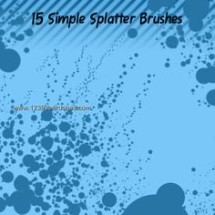 Simple Splatters - Download  Photoshop brush http://www.123freebrushes.com/simple-splatters/ , Published in #GrungeSplatter. More Free Grunge & Splatter Brushes, http://www.123freebrushes.com/free-brushes/grunge-splatter/ | #123freebrushes