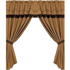 Delectably Yours Barbwire Western Curtains 120 x 84; with Valance, sheer liner and tiebacks included.   #DelectablyYours Western Bed and Bath Decor