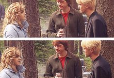 | Tom Felton with Emma Watson and Rupert Grint - gif |