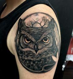 Owl realistic tattoo by Juan david Castro R