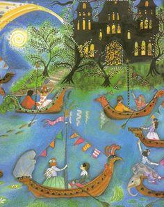 Twelve Dancing Princesses by Jane Ray pixels Jane Yolen, 12 Dancing Princesses, Magical Images, Book Illustration, Art Techniques, Illustrators, Folk Art, Fairy Tales, Artwork