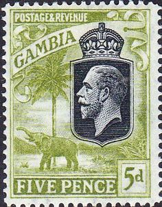 Gambia 1922 King George V Elephant SG 130 Fine Mint