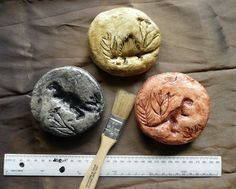 salt dough fossil making, then painting later in the week! from: that artist woman: Fossil Casts
