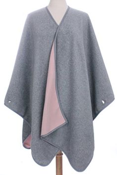 Double Sided Fleece Poncho for Fall Winter