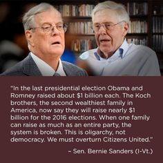 When one family can raise as much as an entire party, the system is broken.