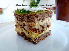 Kuchnia domowa Ani: Ciasto orzechowo - kokosowe z masą ananasową