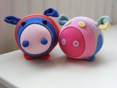 Sock Piggies #sewing #pigs #socks
