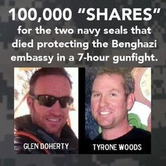 JUSTICE for the seals.  IMPEACH OBAMA....PROSECUTE HILLARY